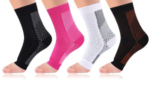 Copper-Infused Plantar Fasciitis Foot Compression Sleeves