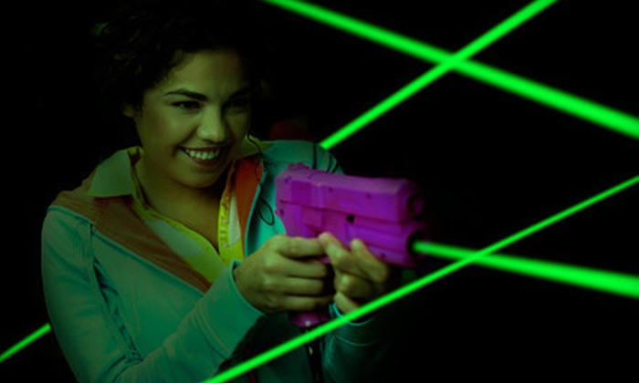 Saturn 5 - Samoset: $18 for Four Games of Laser Tag with Soda and Popcorn for Up to Four at Saturn 5 in Bradenton ($42 Value)