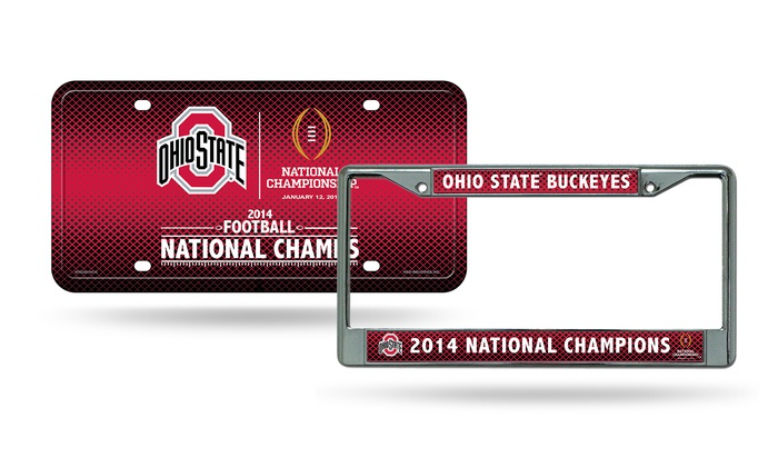 NCAA 2014 License Plate Set | Groupon Goods