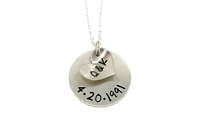 Hannah Design - Victoria: Hannah Design Initials & Anniversary Necklace