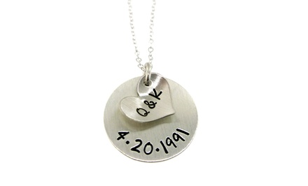 Hannah Design Initials & Anniversary Necklace