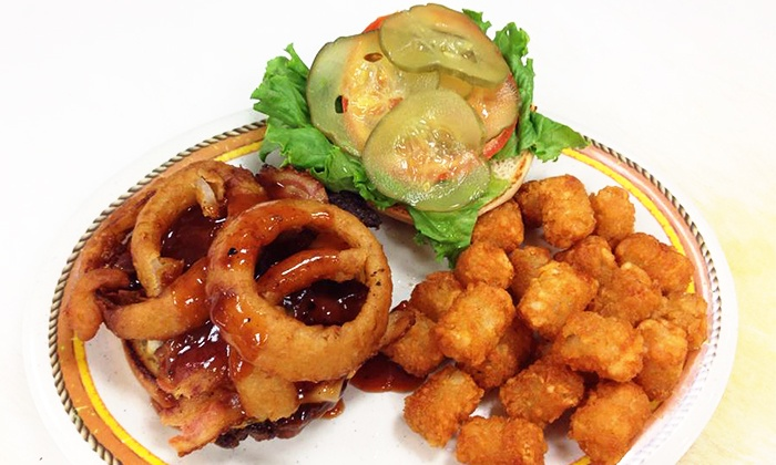 Old Stage Grill - South Liberty: $15 for Two Groupons, Each Good for $15 Worth of Burgers and American Food at Old Stage Grill ($30 Value)