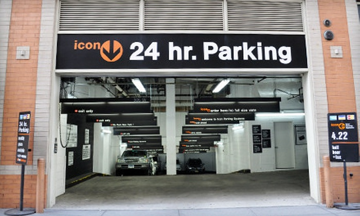 Icon Parking Systems - Multiple Locations: 24-Hour Parking or One Month of Unlimited Parking from Icon Parking Systems (Up to 71% Off). 27 Options Available.