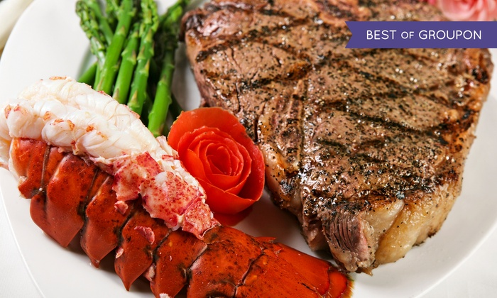Sergio's Steak and Seafood - Folsom: $83 for a Deluxe Surf and Turf Meal with Wine for Two at Sergio's Steak and Seafood ($178 Value)