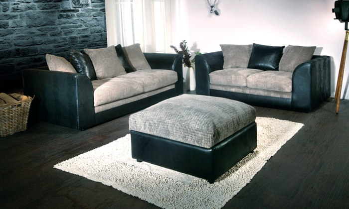 Groupon Goods Global Gmbh Milo Two And Three Seater Sofa Set From