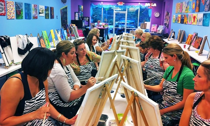 Corkscrews and Canvas - Marietta: $15 for a Painting Class for One at Corkscrews and Canvas ($29 Value)