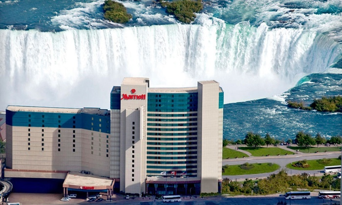 Marriott Niagara Falls Fallsview Hotel & Spa - Niagara Falls, ON: One-Night Stay for Two at Marriott Niagara Falls Fallsview Hotel & Spa in Niagara Falls, Ontario