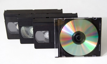 One, Two, or Five Videotape-to-DVD Conversions from Delp Video Services (Up to 55% Off)