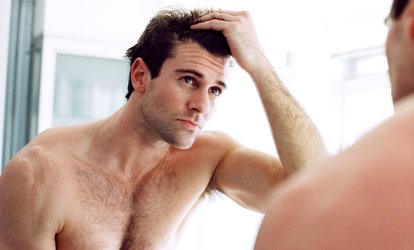 image for 6 or 12 Weeks of Laser <strong>Hair-Restoration</strong> Treatments at Forever 25 Medical Center (94% Off)