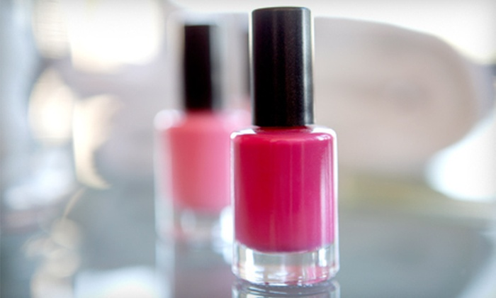 Nails by Jodie - Greenville Community College: Spa Mani-Pedi or Two Shellac Spa Manicures with a Mini Bottle of OPI Polish at Nails by Jodie (Up to 63% Off)