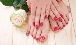 Beautiful Forever Nail & Spa: A Full Set of Acrylic Nails and a Pedicure or 1 or 2 Mani-Pedis at Beautiful Forever Nails & Spa (Up to 67% Off)
