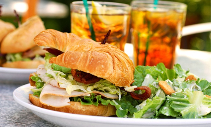 The High Ground Cafe - Mann: Sandwiches with Sides and Coffee or Tea for Two, Four, or Six at The High Ground Cafe (Up to54%Off)