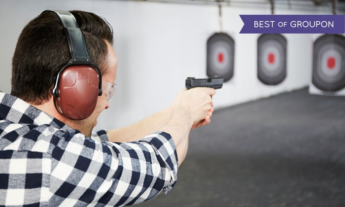 Double Action Indoor Shooting Center & Gun Shop - Double Action Shooting Center & Gun Shop: Shooting Range Package for 2 and Optional Ammo at Double Action Indoor Shooting Center & Gun Shop (Up to 62% Off)