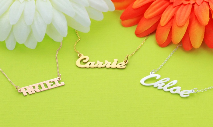 Personalized Name Necklaces: Personalized Name Necklaces from Monogram Online. Multiple Styles Available.