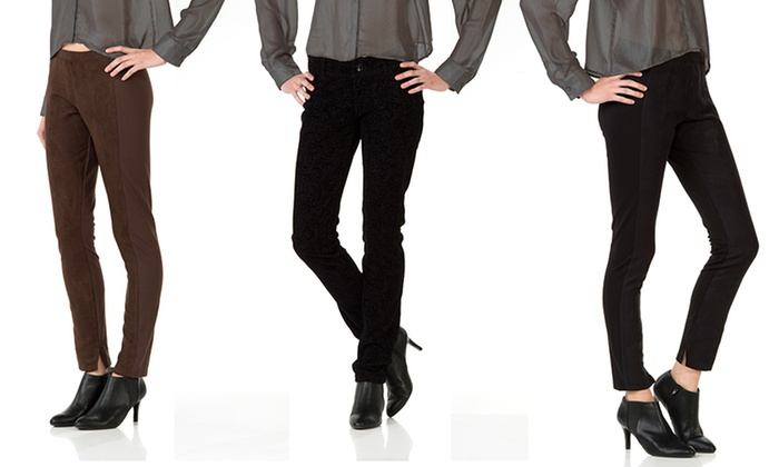 Seven7 Women's Ponte Pants or Leggings: Seven7 Women's Ponte Pants or Leggings. Multiple Colors and Patterns Available. Free Shipping and Returns.