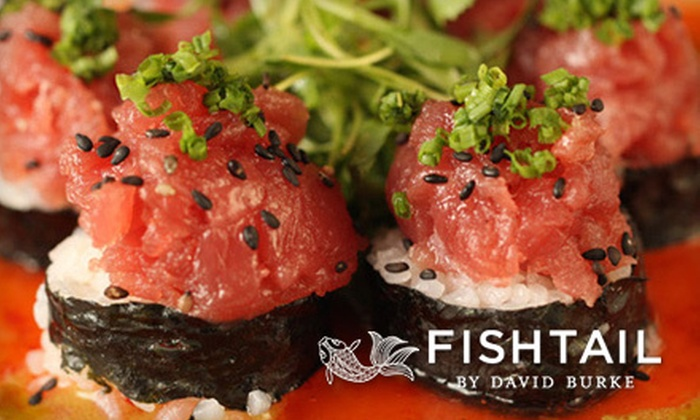 Fishtail by David Burke - Upper East Side: $79 for a Four-Course Upscale Seafood Dinner for Two at Fishtail by David Burke (Up to $170 Value)