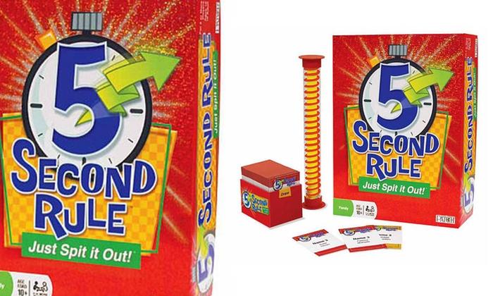 5 Second Rule Party Game: 5 Second Rule Party Game. Free Returns.