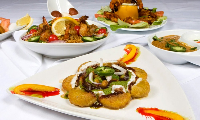 The Menu - Indian Cuisine: Organic Indian Cuisine and Drinks at The Menu (45% Off). Two Options Available.