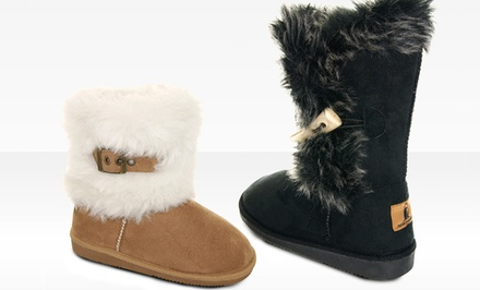 Rugged Bear Girl's Faux Fur Winter Boots. Multiple Options Available. Free Returns.