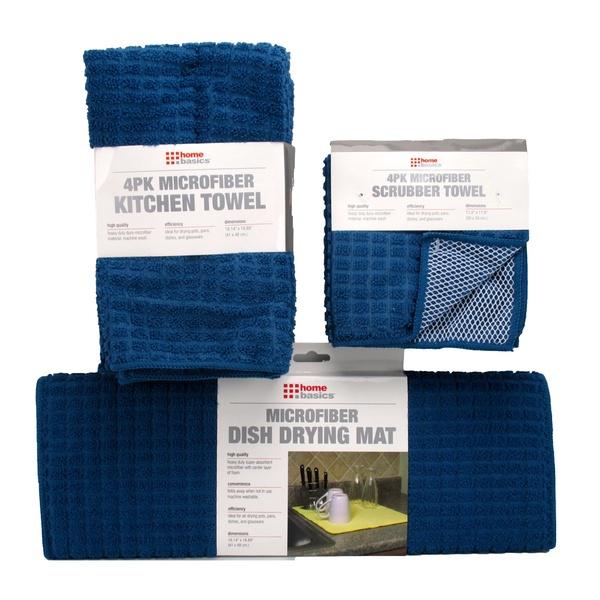 Microfiber Kitchen Towels and Scrubber Cloths Bundle.