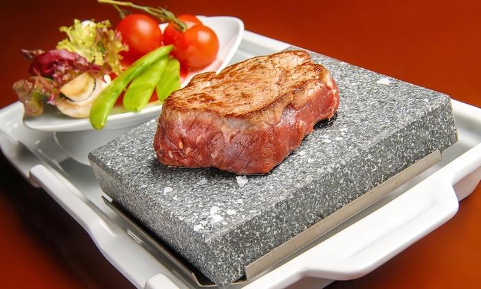hot stone steak for two double barrel rotherham limited groupon. Black Bedroom Furniture Sets. Home Design Ideas