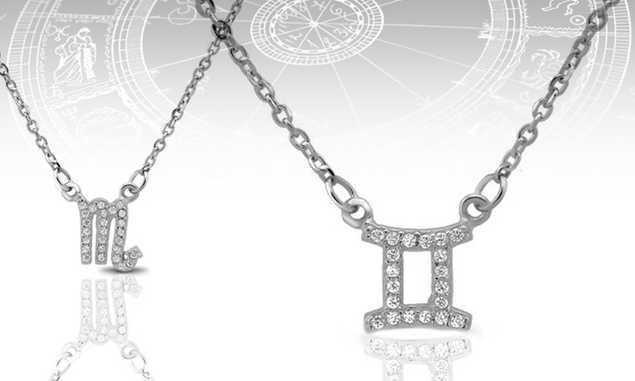 Sterling Silver and Cubic Zirconia Astrological Pendants: Sterling Silver and Cubic Zirconia Astrological Pendants. Multiple Styles Available. Free Shipping and Returns.