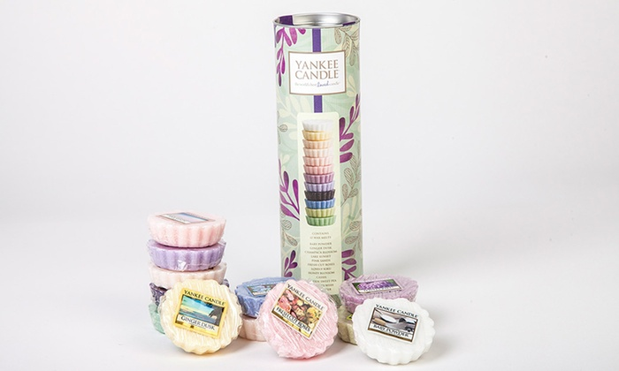 12 wax melts gift set groupon my planet online limited yankee candle pure essence 12 wax melts tube gift negle Gallery