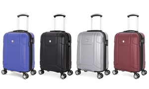 SwissGear Hard-Sided Spinner Carry-On Luggage with Built-in Cupholder