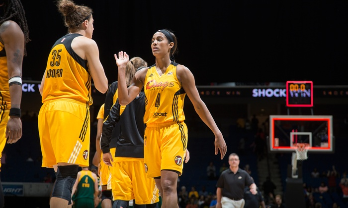 Tulsa Shock - Downtown Tulsa: $28 for Two Tickets to a Tulsa Shock Game Including Soft Drinks and Hot Dogs on June 28 or 29 at BOK Center ($48 Value)