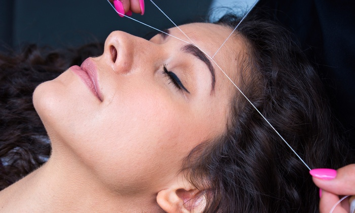 Resham Boutique & Spa - Northville: Two or Three Eyebrow Threading Sessions or Full-Face Threading Session at Resham Boutique & Spa (Up to 52% Off)