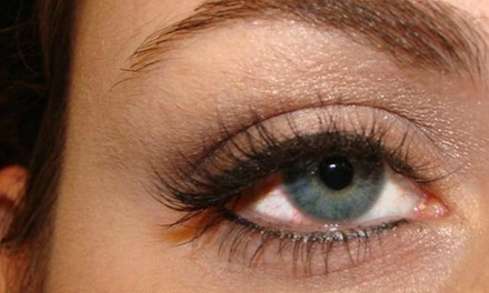 One Full Set of Eyelash Extensions with Up to 45 or 60 Lashes Per Eye at The Lash Lounge (64% Off)