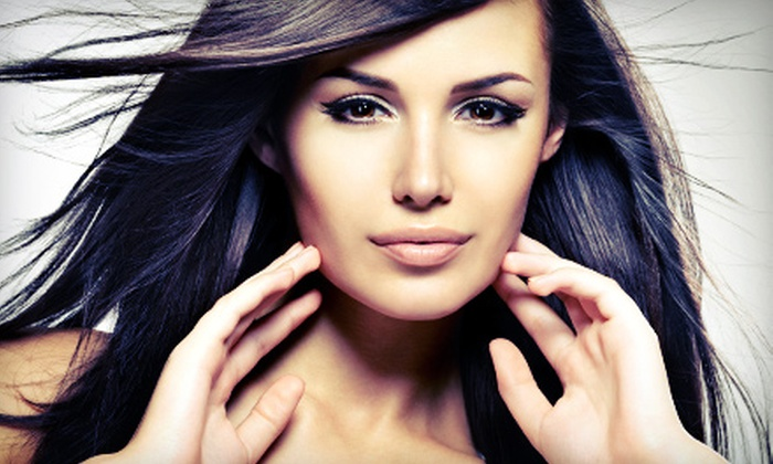 Modish Beauty, Barber Salon - Raleigh: Haircut Package with Optional Brow Waxing or a Hair-Relaxing Package at Modish Beauty & Barber Salon (Up to 67% Off)