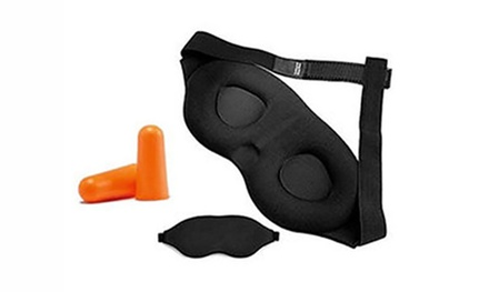 One or Two Vivo 3D Blackout Sleep Masks and Ear Plugs Sets