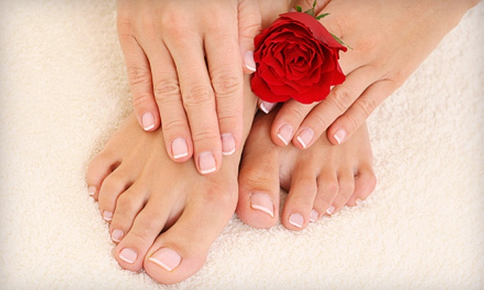 Michael Farris - San Antonio: One or Three Spa Manicures and Pedicures from Michael Farris (Up to 65% Off)