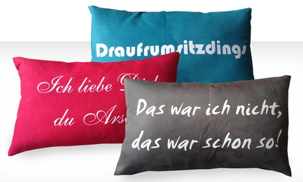 kissen mit spruch groupon goods. Black Bedroom Furniture Sets. Home Design Ideas