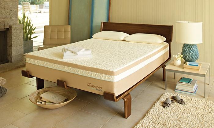 free white glove tempurpedic contour rhapsody breeze memory foam mattress and adjustable frame - Temperpedic Bed