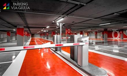 10 o 20 ore oppure un mese di parcheggio coperto e vigilato nel centro storico da Parking Via Giulia (sconto fino a 56%)