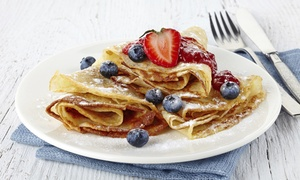 The Corner Creperie: Crepes and Espresso Drinks for Two at The Corner Creperie (Up to 45% Off)