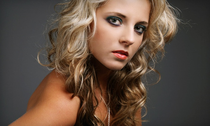 Shear Possibilities - Hartville: Partial Highlights or Lowlights, Haircut, or Haircut with All-Over Color at Shear Possibilities in Hartville (Half Off)