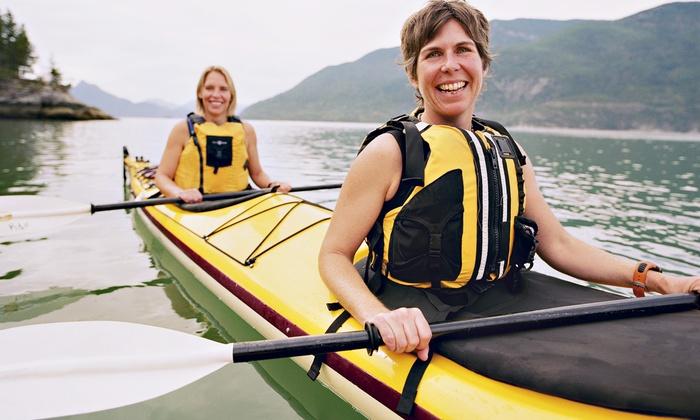 Eco Trek Adventures LLC - Prince George: Half-Day Single- or Tandem-Kayak Rental from Eco Trek Adventures LLC (50% Off)
