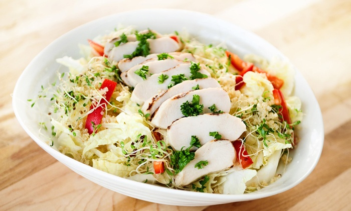 Crave Healthy Habits - Downtown Toronto: C$15 for a Healthy Fast-Food Meal for Two at Crave Healthy Habits (Up to C$28.22 Value)