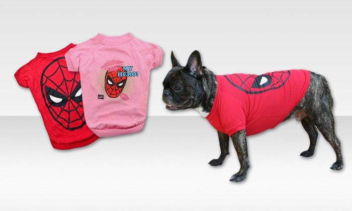 Marvel Spider-Man Dog T-shirts: $3.99 for a Marvel Spider-Man Dog T-shirt (Up to $12.99 List Price). Multiple Styles Available.