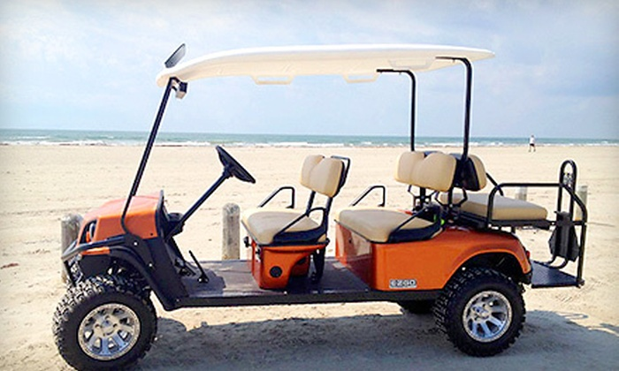 Bron's Beach Carts - Port Aransas: Two- or Four-Hour Beach-Cart Rental for Up to Six People from Bron's Beach Carts (Half Off)