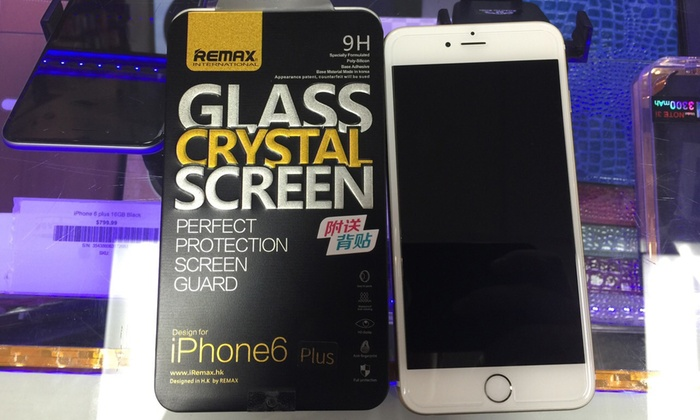Dr. Cell Phone - Houston - Multiple Locations: $14 for iPhone 4/4S, 5/5S/5C, or 6/6 Plus Screen Protector at Dr. Cell Phone ($49 Value)