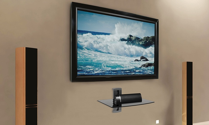 argom tv wall mount shelves groupon goods. Black Bedroom Furniture Sets. Home Design Ideas