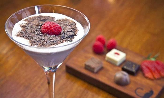 AYZA Wine & Chocolate Bar - West Village: Date-Night Package with Small Plates & Dessert Martinis for 2 or 4 at AYZA Wine & Chocolate Bar (Up to 46% Off)