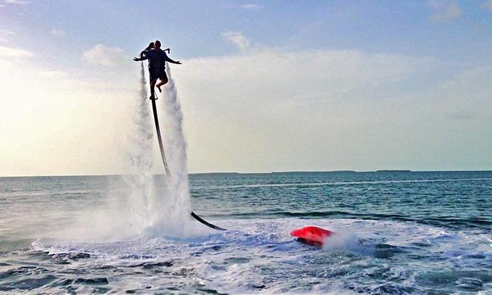 Florida Keys Jetpacks - Islamorada, Village of Islands: Flyboard or Water-Powered Jetpack Adventure for One or Two at Florida Keys Jetpacks (Up to 60% Off)