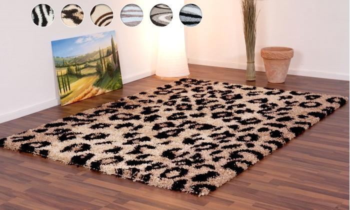 tapis shaggy motifs groupon shopping. Black Bedroom Furniture Sets. Home Design Ideas