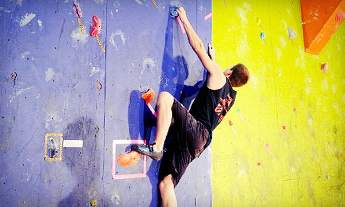 Defying Gravity - Lubbock: One-Hour Rock-Climbing Class, Equipment Rental, and All-Day Pass for Two or Four at Defying Gravity (Up to 59% Off)