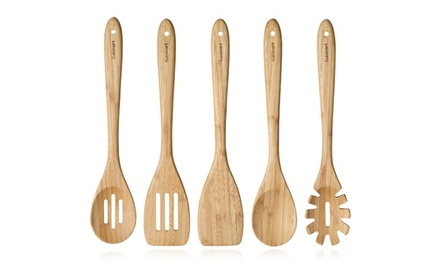 Cuisinart 5-Piece Utensil Set in Beechwood or Bamboo. Free Returns.